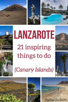 Lanzarote Canary Islands Travel (Spain) -  21 amazing things to do: volcanoes, architecture, beaches, fun activities...   #canaryislands #lanzarote   Things to do in Lanzarote   Lanzarote photography