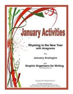 A Free January Vocabulary Builder/Brain Teaser with Writing