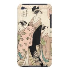 Cool japanese vintage ukiyo-e geisha ladies barely there iPod case $44.95