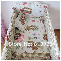 С наполнитель 5 шт. / комплект младенцы постельные принадлежности детская кроватка комплект 100% хлопок детская кроватка бампер младенцы футляр комплект младенцы ограничитель для кроватикупить в магазине YOYO HONEYнаAliExpress