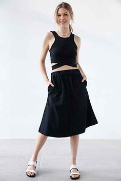 Cheap Monday Scaler Button-Front Skirt - Urban Outfitters