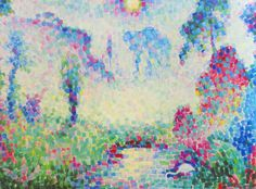 Paysage pointilliste by @artistmetzinger #arthistory #metzinger
