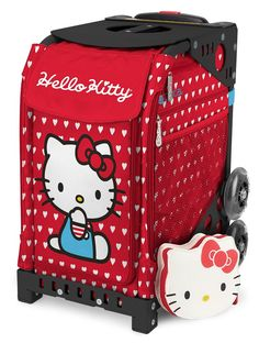 ZÜCA Sport Hello Kitty Labor of Love Rolling Bag Black Frame