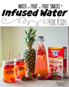 Fun infused water for kids -- great way to get kids to drink more water. #sp