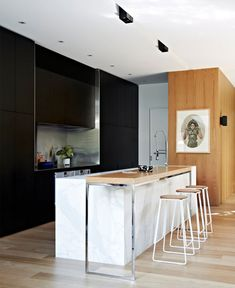 Luxurious Two level Residence in Melbourne kitchen marble plots