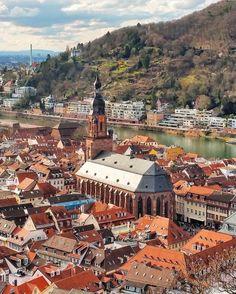In Heidelberg, Germany. Germany Poland, Berlin Germany, Destination Voyage, Most Visited, Winter Travel, Kirchen, Paris Travel, Travel Goals, European Travel