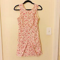 White & Pink Floral Dress Knee-length floral spring dress with a v cut back. I've only worn it once! Forever 21 Dresses Midi