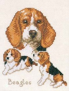 Beagles Cross Stitch Kit | sewandso