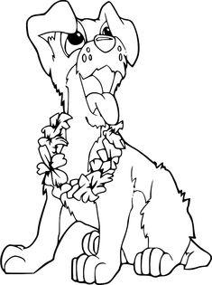 Dibujo para colorear de perros (nº 2)