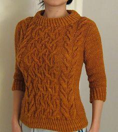 Beatnik sweater, as knit by chiaochun. This is a free pattern on Ravelry.