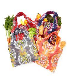 Love this Opulent Reusable Bag Set by LOQI on #zulily! #zulilyfinds