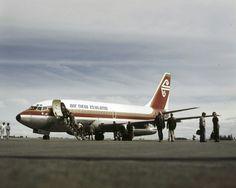 Air New Zealand Boeing 737-219 aircraft - Photograph taken by Mannering and Associates Ltd