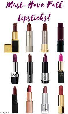 Must-Have Fall Lipsticks 2016
