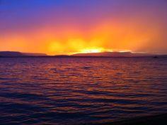 Sunset while camping at lake Heron, NM.