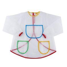 Children Bib Burp Baby Waterproof Long Sleeve Transparent Smock Bibs Apron Suitable For Baby Girls & Boys