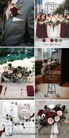 Trending-Dark Romance Moody Hues for Fall & Winter Wedding Color Ideas Gold And Burgundy Wedding, Red Wedding, Deep Burgundy, Burgundy Wine, Wedding Bouquet, Bridesmaid Bouquets, Bridesmaids, Wedding Ideas, Burgendy Wedding