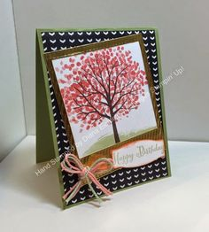 Stampin' Fun with Diana: Creative Crew Blog Hop: Sheltering Tree, Remembering Your Birthday, Big Shot, Framelits, Birthday, Stampin' Up, Diana Eichfeld