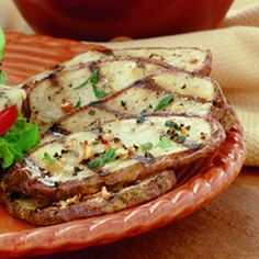 Rustic Grilled Potatoes...these looks tasty and simple enough...a nice side for tonight's steak