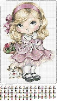 patterns for cross stitch projects Cross Stitch For Kids, Cute Cross Stitch, Counted Cross Stitch Patterns, Cross Stitch Charts, Cross Stitch Designs, Cross Stitch Embroidery, Embroidery Patterns, Stitch Doll, Cross Stitch Needles