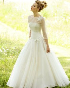 this vintage dress is perfect for a simple wedding :)