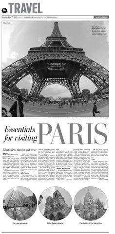 Travel: Essentials for visiting Paris #Layout #GraphicDesign #Newspaper #Travel #Paris
