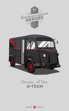 An other #CitroenFanArt by Gerald Bear of the famous #Citroën Van #typeH!