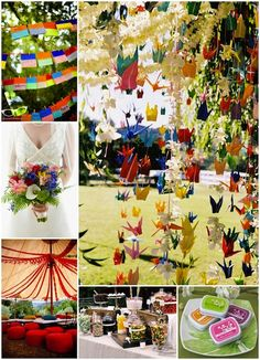 Origami used for Indian wedding decorations