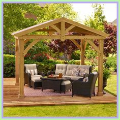 wood patio gazebo kits-#wood #patio #gazebo #kits Please Click Link To Find More Reference,,, ENJOY!! Diy Pergola, Patio Gazebo, Pergola Ideas, Black Pergola, Pergola Swing, Wedding Pergola, Pergola Carport, Backyard Pergola, Pergola Patio