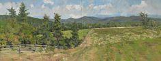 "Wegman's Site Prep, 2015. Oil on canvas, diptych, 24 x 60"" Sold."