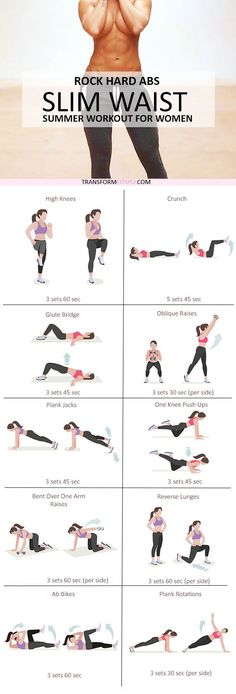 Fitness Motivation : Rock Hard Abs Slim Waist Workout for Women Fitness Workouts, Sport Fitness, Fitness Diet, At Home Workouts, Health Fitness, Toning Workouts, Summer Workouts, Hard Core Ab Workout, Home Back Workout