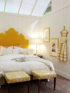 Quality Attic Bedroom with Wall of Skylights - Page 21 of 59 Bedroom Loft, Master Bedroom, Bedroom Decor, Sarah Richardson, Bedroom Layouts, Attic, Retro, Wall, Furniture