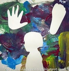 Messy Handprint Silhouette Painting