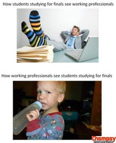Funny Pictures Students vs  Working Professionals