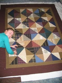 another great quilt with triangle blocks