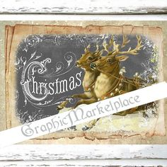 Christmas Reindeer Chalkboard Large Image by GraphicMarketplace