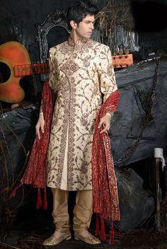 mens-designer Manish Malhotra sherwani-2013