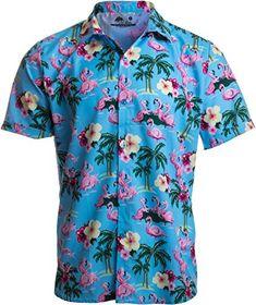 8417122e777d Naughty Flamingo, Funny Drinking Sex Party Hawaiian Button Down Polo Shirt  Men-(Collar,XL)