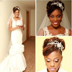 African American. Black Bride. Wedding Hair. Natural Hairstyles. Nigeria Bride
