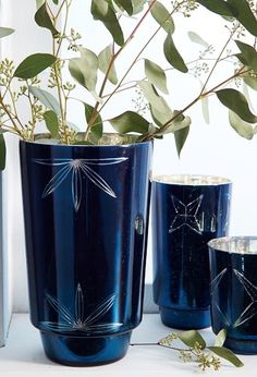 beautiful blue mercury cut glass hurricanes  http://rstyle.me/n/qzmn2pdpe