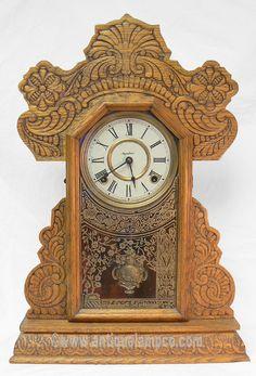 Ginger Bread Clock Antique Wall Clocks, Old Clocks, Old Watches, Ginger Bread, Ticks, My Etsy Shop, Antiques, Vintage, Home Decor