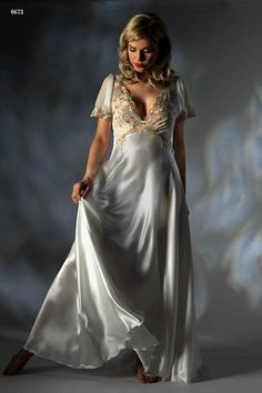long white nightgowns on pinterest | bridal long nightgown by asian nightgown