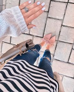 Fresh manis  Striped teesBow shoes Just a few of my favorite things... http://liketk.it/2v8QP #liketkit @liketoknow.it #favorites #mondaymood #fashioninspo #opi #everlyrings #nordstrom #freepeople #bowshoes #stripes #engagementring #casualstyle