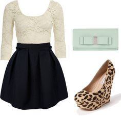 """""""Simple with a Pop"""" by eloncarich on Polyvore I dont really like leopard print, but this is cute!!"""