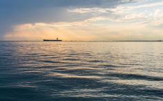 Sunset over Thessaloniki gulf
