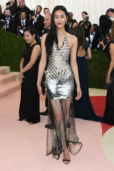 Pin for Later: These Looks Prove That Models Treat the Met Gala Like the Fashion Oscars Liu Wen Wearing Iris van Herpen.