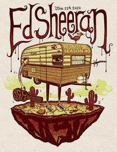Ed Sheeran Austin City Limits Season 40 2014 Poster by MazzaArt