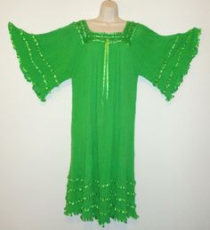 Hippie Gauze Crochet Dress Mexican Dress 60 039 s Retro Angel Dress Assorted Colors | eBay