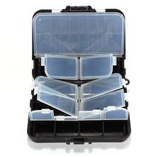 Good deal Fishing Tackle Bait Box Carp Course Hook Beads Swivels Spinner Lure Case Storage
