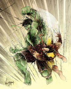 #Hulk #Fan #Art. (FACE FISTED) By: Thefreshdoodle. ÅWESOMENESS!!!™ ÅÅÅ+