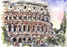 Paintings of rome, europe, travel art